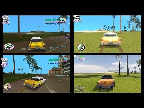 4K - GTA Vice City Original vs Remastered vs RAGE vs GTA V Vice City