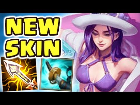 *NEW* POOL PARTY CAITLYN JUNGLE 34 kilIs SPOTLIGHT  100% CRIT  THE MOST BEAUTIFUL SKIN EVER