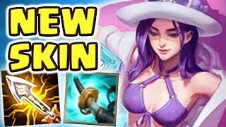 *NEW* POOL PARTY CAITLYN JUNGLE (34 kilIs) SPOTLIGHT | 100% CRIT | THE MOST BEAUTIFUL SKIN EVER