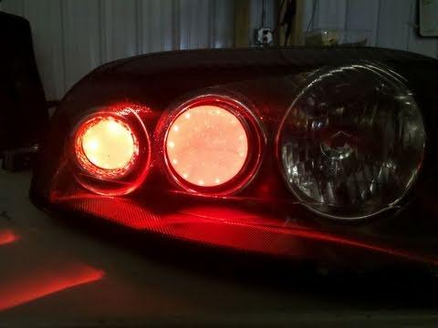 Subaru Legacy custom audi LED healdights by CiNcity Des ...