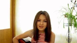 """Про Маму   Девушка под гитару красиво поёт собственная песня """"Piarov2012"""""""