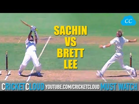SACHIN Vs Brett Lee  - Stand And Deliver - His Career Best Shots !!