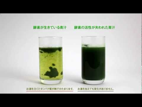 酵素が生きている青汁KENPRIA お湯を注ぐと違う