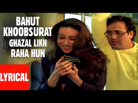 Bahut Khoobsurat Ghazal Likh Raha Hun Lyrical Video  Kumar Sanu  Shikari  Govinda, Karishma