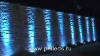 Светодиодная архитектурная подсветка здания(Архитектурная светодиодная подсветка стен здания может визуально увеличить высоту или ширину. Видео предс..., 2012-08-22T09:44:18.000Z)
