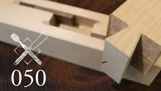 "Joint Venture Ep. 50: Blind keyed dovetail joint ""Shinozashi ari shikuchi"" (Japanese Joinery)"
