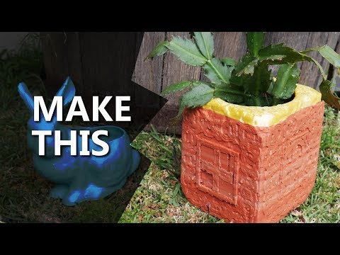 Anything to Pot Plant! 3D Design and Printing Tutorial using Meshmixer thumbnail