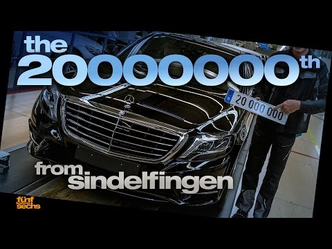 Dr. Z and the 20 Millionth Mercedes made in Sindelfingen (German)