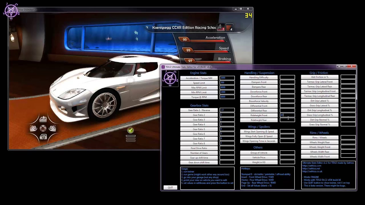 Test drive unlimited 2 trainer pc free download