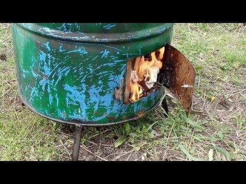 видео: Испытание бочки для сжигания мусора на чужой даче