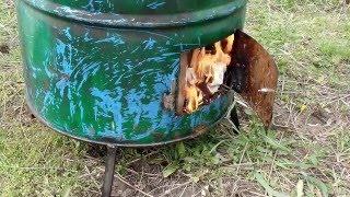 Испытание бочки для сжигания мусора на чужой даче(Садовый инвентарь для дачников http://ali.pub/nt70i доступные цены.Скидка на товары необходимые в вашем обиходе..., 2016-04-22T12:37:01.000Z)