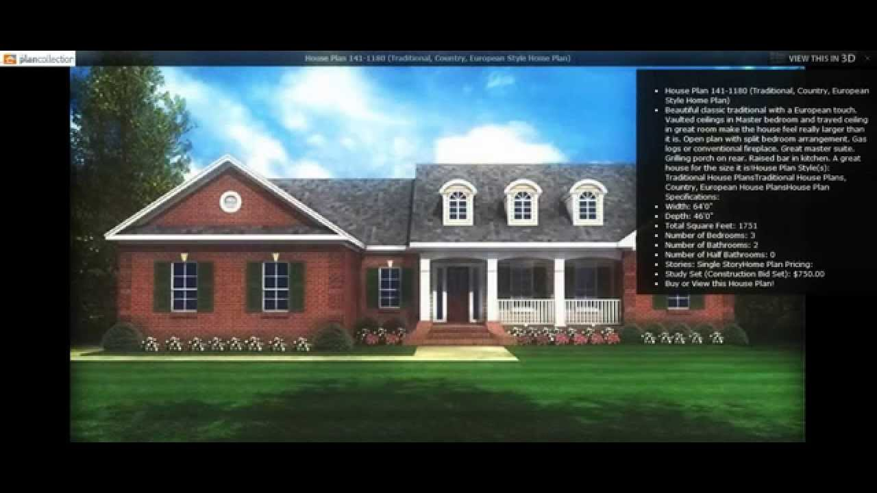 Popular country home plans the plan collection youtube for The country home collection