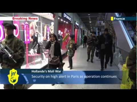 France on Mali terror high alert: soldiers patrol public buildings and monuments in Paris