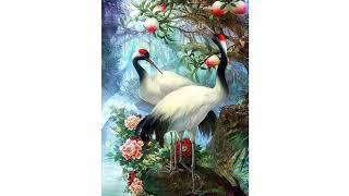 "Full Square Diamond Painting ""Lovers Birds"" handmade 3D Embroidery set Cross Stitch Mosaic Painting"
