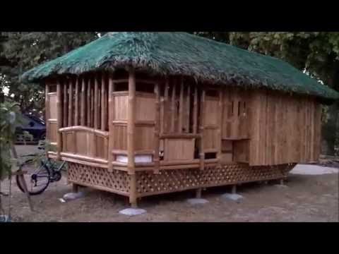 Bamboo nipa hut bahay kubo for low cost housing in for Garden hut sale