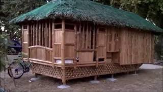 Bamboo-nipa Hut Bahay Kubo For Low Cost Housing In Philippines