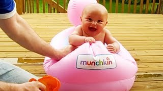 FUNNY BABIES WATER FAILS 🌊  THAT WILL MAKE YOU LAUGH HARD!