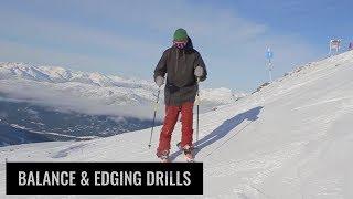 Balance & Edging Drills On Skis
