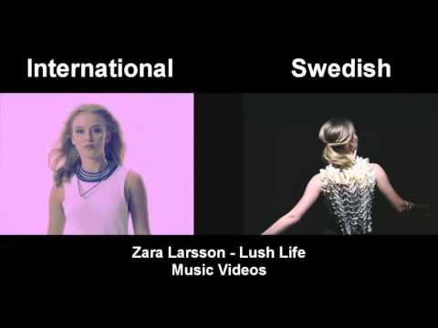 Zara Larsson - Lush Life (Both Music Videos Side By Side)