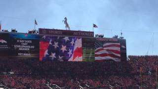 Arizona Cardinals At Denver Broncos - Hazel Miller Singing National Anthem - Sports Authority Field