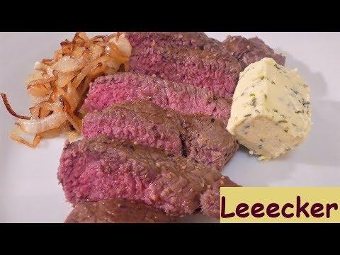 Steak gelingsicher medium braten, hat das Rezept versprochen, grins!