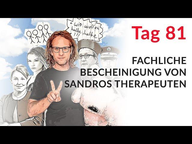 Fachliche Bescheinigung von Sandros Therapeuten (Wechselmodell Tag 81)