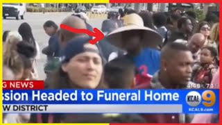 Faceless Man At Nipsey's Funeral Procession