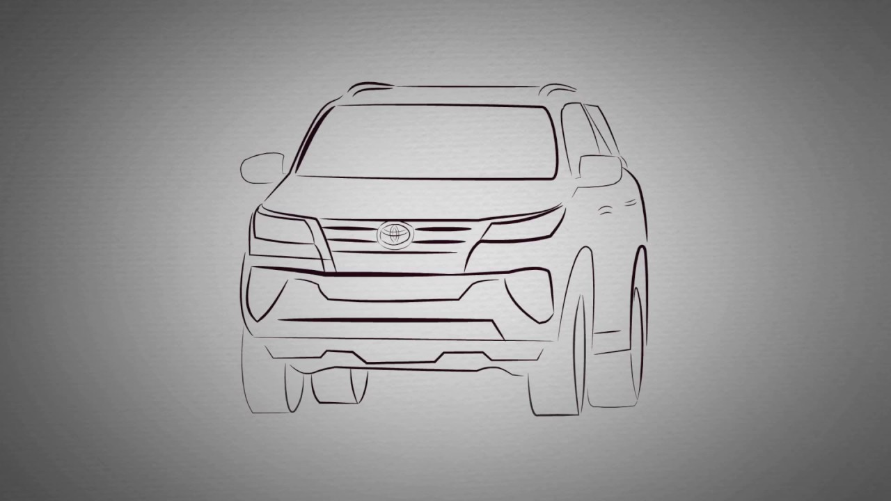 HOW TO DRAW THE ALL NEW TOYOTA FORTUNER(Cars Drawing) - YouTube