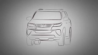 HOW TO DRAW THE ALL NEW TOYOTA FORTUNER(Cars drawing)