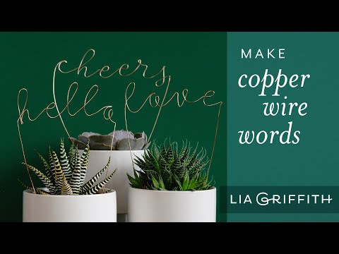How to Make DIY Wire Words
