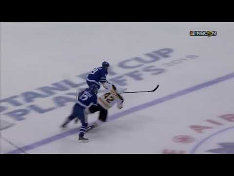 Marleau's INTERFERENCE leads to an empty net goal (Leafs vs. Bruins 2018 NHL Playoffs)