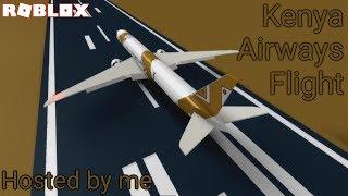 Roblox Kenya Airways flight hosted by me