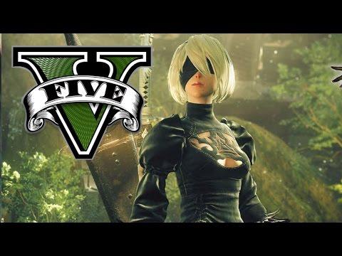 GTA 5 Visual Enb Nier Automata B2 YouTube