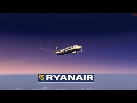 (FSX SE) VRyanair PMDG 737| Stansted EGSS - Zaragoza LEZG & Aalborg EKYT | (Vatsim)