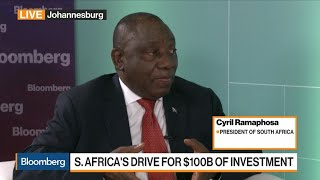 Ramaphosa Says South Africa's $100 Billion Investment Drive Ahead of Target