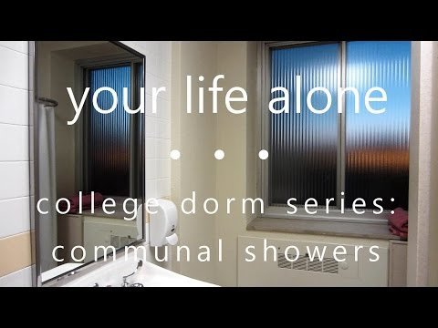 Communal College Shower Tour + Tips
