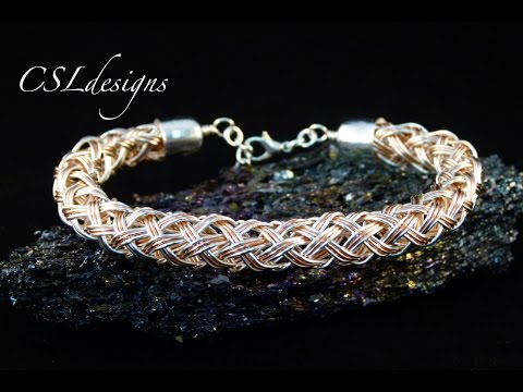 Multi strand hollow wire kumihimo braid