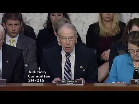 Grassley Opens Hearing on Supreme Court Nominee Judge Neil Gorsuch
