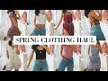 TRY ON SPRING CLOTHING HAUL | Zara, Princess Polly, & Aritzia