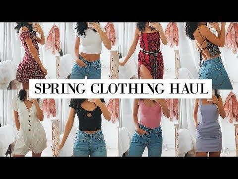 TRY ON SPRING CLOTHING HAUL | Zara, Princess Polly, & Aritzia