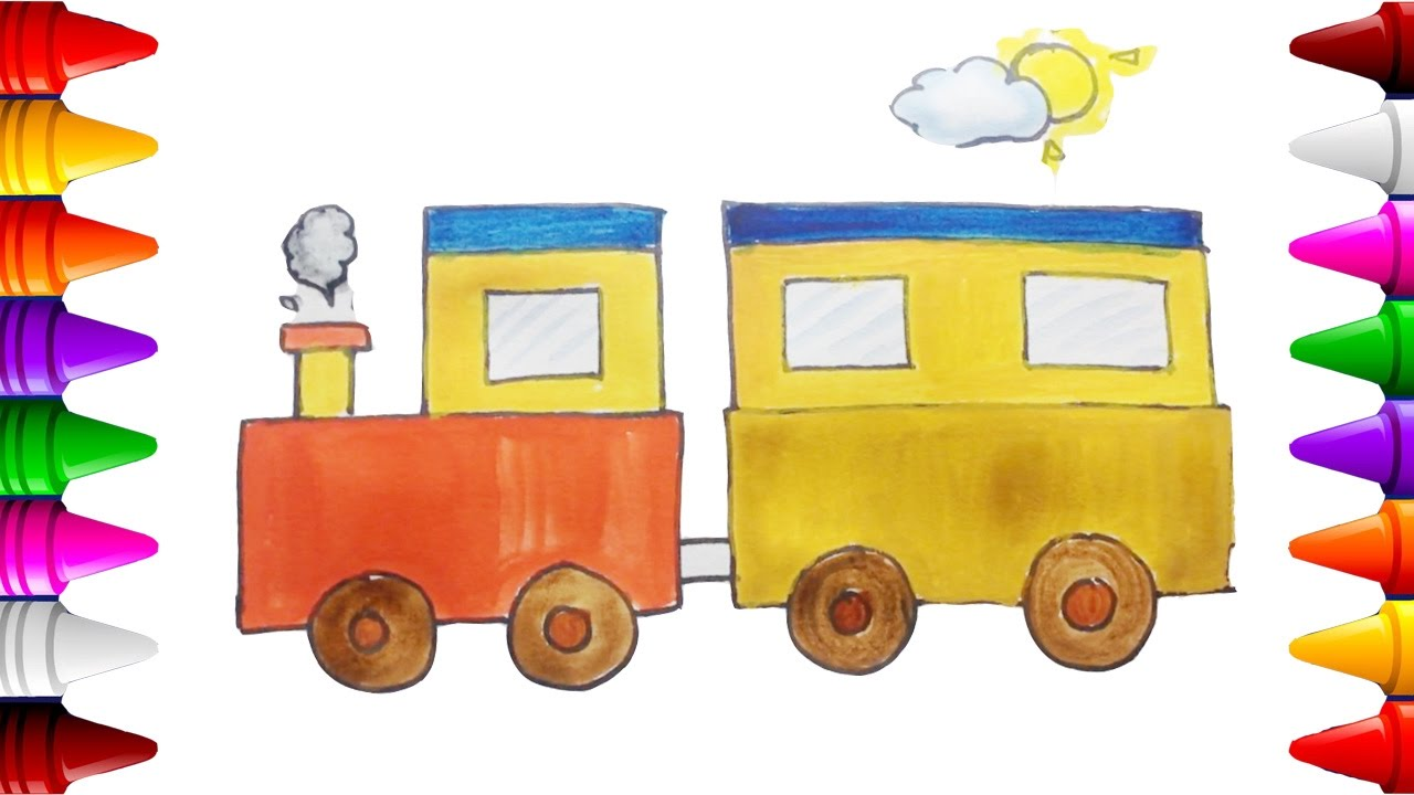 Tren Dibujos Para Colorear Dibujar Tren Facil Carritos Para