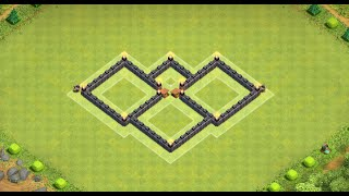 clash of clans melhor layout farm cv4 best th4 2014
