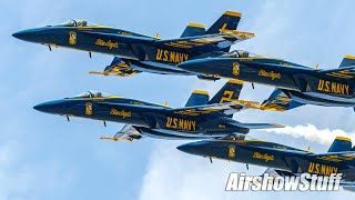 Blue Angels F-18 Super Hornets - FIRST Full Public Performance!