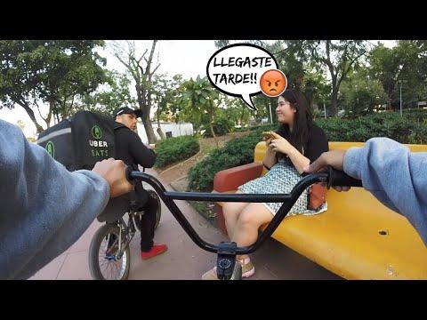 UN DÍA COMO REPARTIDOR DE UBER EATS EN BMX - Pierdo El Empleo? 😨