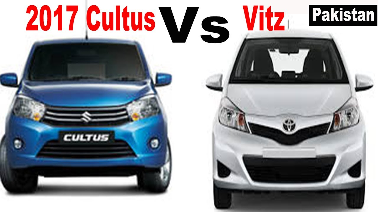 Suzuki Cultus 2017 Vs Toyota Vitz 2014 Pakistan Youtube