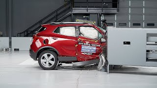 2015 Buick Encore passenger-side small overlap IIHS crash test