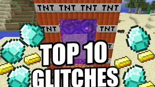 Minecraft - TOP 10 GLITCHES [ Tutorial ] Xbox / MCPE / PS4 / PS3 / Java / Switch