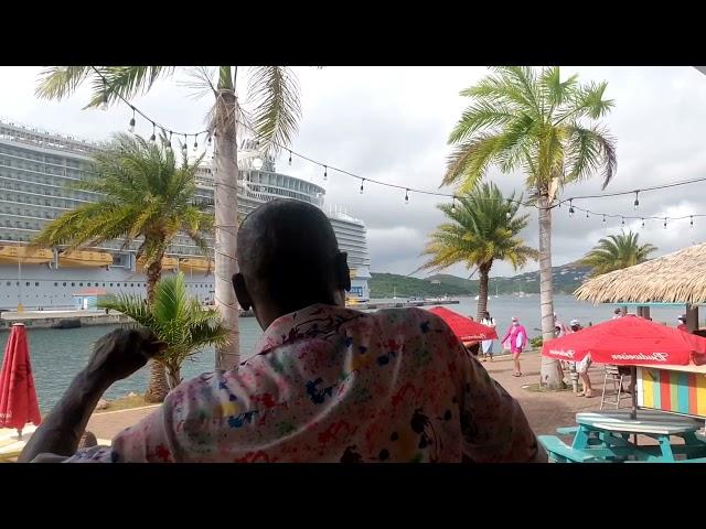 Bob Marley Waiting in Vain Reggae Cover Saxophone St Thomas Virgin Islands Cruise Entertainment