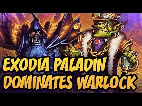 Exodia Paladin DOMINATES Warlock | Rastakhan's Rumble | Hearthstone