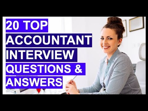 TOP 20 ACCOUNTANT Interview Questions And Answers!